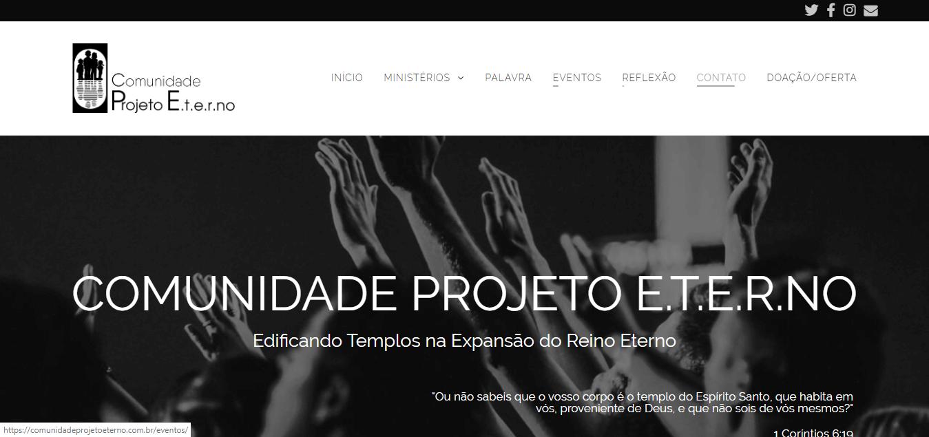 Portfólio Comunidade Projeto Eterno